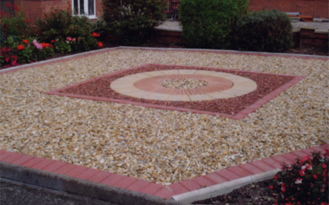 Gravel Landscaping Feature